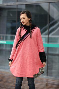 Comfortable Pink Chinese Ethnic Thin Cotton por Sophiaclothing, $199.99