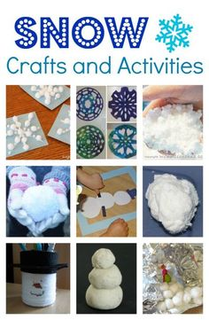 Snow Themed Crafts and Activities for Kids! | Winter Crafts for Kids