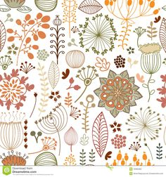 Seamless Botanical Pattern - Download From Over 29 Million High Quality Stock Photos, Images, Vectors. Sign up for FREE today. Image: 16365560