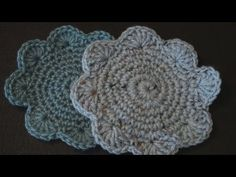 How to make a Crochet Coaster with Shell Edging :)     one down...lots to go!