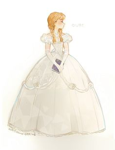 Anna ❤️ ouat>>I think she needs her hair up, but then she would look like Giselle haha>sort of Walt Disney, Disney Magic, Disney Frozen, Anna Disney, Frozen Art, Disney And Dreamworks, Disney Pixar, Animation Disney, Estilo Disney
