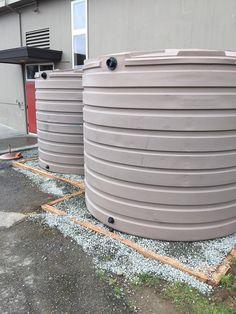 2 X 2825 gallon tanks placed. #rainwaterharvesting
