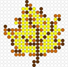 Kralenplank Herfstblad 2 Perler Bead Designs, Perler Bead Templates, Pearler Bead Patterns, Perler Patterns, Beading For Kids, Halloween Beads, Peler Beads, Iron Beads, Melting Beads