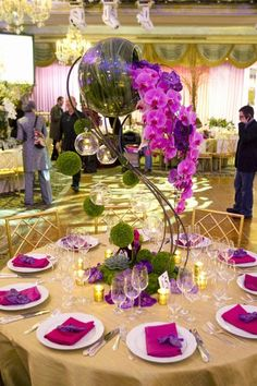 Quinceanera Decorations   Pink and Purple Party Ideas   Quinceanera Centerpieces   Orchid Centerpieces for your Sweet 15   Modern Quinceaneras   Quinceanera Ideas #quinceanera #sweet15 #orchid