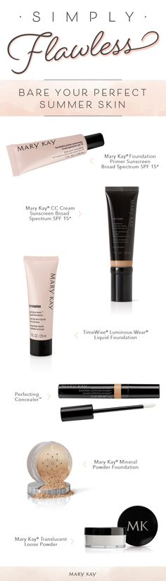 9e687a72a Mary Kay. See more. Summer beauty is all about keeping things simple.  Achieve a gorgeous foundation application with products