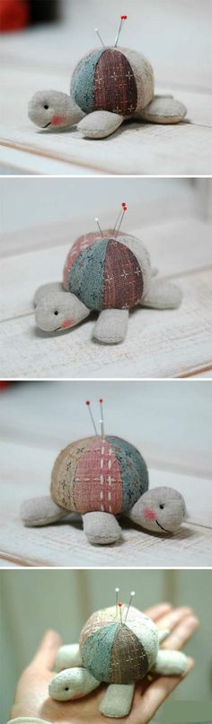 turtle pin cushion