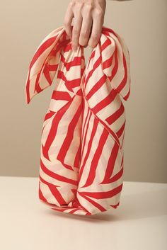 Stripe furoshiki red Japanese eco wrapping by TheLinkCollective