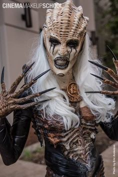 Demonic Alien. ~ One of my favorite SFX looks. special effects, makeup, sci fi, prosthetics, SFX prosthetics and accessories