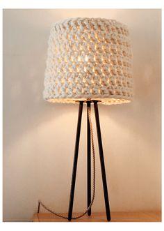 Home Renovation Loan, Crochet Lamp, Tripod Lamp, Lighting, Diy, Home Decor, Google, Decoration Home, Bricolage
