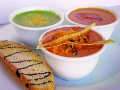 Soup Sampler from Greenz Restaurant in Dallas, TX #soups