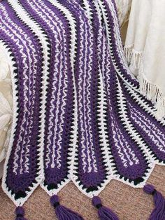 Crochenit Southwest Mile-a-Minute Afghan