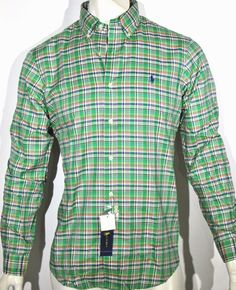 Polo Ralph Lauren plaid twill long sleeve shirt size xl new with tags #PoloRalphLauren #ButtonFront