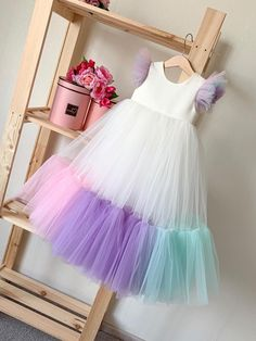 Exceptional boho dresses are readily available on our internet site. Take a look and you wont be sorry you did. Frocks For Girls, Little Girl Dresses, Girls Dresses, Flower Girl Dresses, Baby Tutu Dresses, Dresses For Kids, Kids Dress Wear, Kids Gown, Baby Dress Design