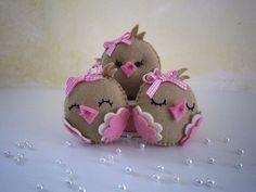 ♥♥♥ De volta às agulhas com passarinhos para a Elena... by sweetfelt  ideias em feltro