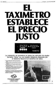 Taxímetro. Publicado el 10 de abril de 1980.