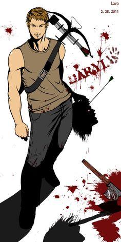the_walking_dead_daryl_by_kimlava-d3ao0w7.png (632×1264)