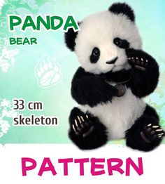 "Pattern Panda bear By Anastasia Arzhaeva - If this product is not available for sale and has the status of ""Adopted"", send me an email, I could not have time to update the status of the goods after the previous sale. You can make and sell copies of the bear. I do not impose an indication of my authorship. But I as..."