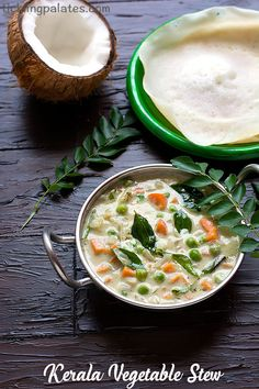 Vegetable Stew Recipe with step by step photos. Kerala Vegetable Stew for appams, idiyappam, pulaos made with mixed vegetables and fresh coconut milk.