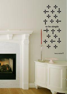 wallsticker cross pattern Wallpaper interior Design