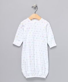 Take a look at this White 'Baby Things' Gown - Infant by Agabang on #zulily today!