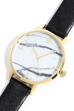 Carrara Gold and White Watch