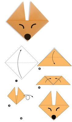 Find more information on Origami Paper Folding Instruções Origami, Origami Simple, Easy Origami For Kids, Geometric Origami, Origami Wedding, Origami Bookmark, Origami Bird, Useful Origami, Origami Videos