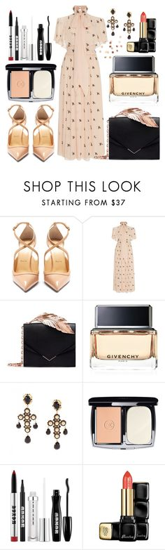 """Untitled #471"" by ngkhhuynstyle ❤ liked on Polyvore featuring Christian Louboutin, Temperley London, RALPH & RUSSO, Givenchy, Dolce&Gabbana, Chanel, Buxom, Guerlain and Umbra"
