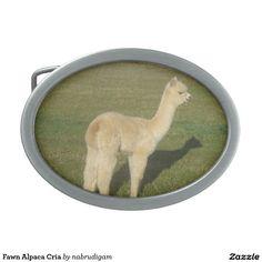 Fawn Alpaca Cria Belt Buckles