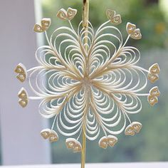 Paper quilling - snowflake