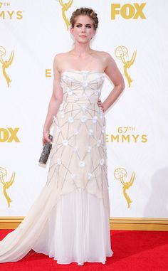 Anna Chlumsky from 2015 Emmys: Red Carpet Arrivals  In Bibhu Mohapatra with a Jimmy Choo clutch