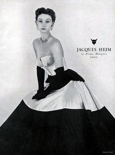 Jacques Heim 1952 Satin and Velvet