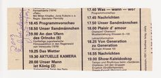 Rückseite des Artikels aus der DDR TV - Zeitung