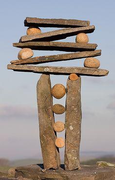 "Vertical Stack Rock Balance by ""escher is still alive"", (Richard Shilling) Land Art Performance Artistique, Stone Balancing, Rock Sculpture, Stone Sculptures, Sticks And Stones, Outdoor Art, Environmental Art, Art Plastique, Pebble Art"