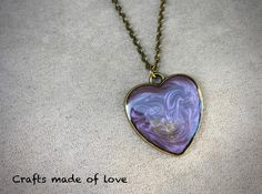Purple heart shaped pendant by CraftsMadeOfLoveShop on Etsy https://www.etsy.com/nz/listing/515325723/purple-heart-shaped-pendant