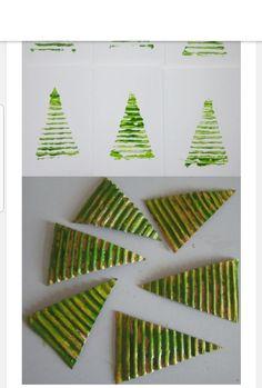 Christmas card - Christmas card Kunsthandwerk 🧶 # přáníčko # Christmas The Ef - Preschool Christmas, Christmas Crafts For Kids, Christmas Activities, All Things Christmas, Holiday Crafts, Christmas Decorations, Christmas Tree Art, Winter Christmas, Christmas Gifts