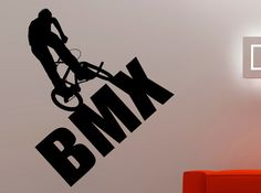 BMX Wall Decal Extreme Sports Stickers Freestyle Jumping Home Decor Boys Room Wall Art Mural Removable Sticker 1bizz
