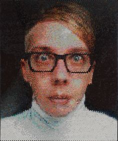 Portraits made by injecting bubble wrap with paint. By artist Bradley Hart. Neat!