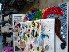 Uma super moldura com mosaico contemporâneo , produzimos por encomenda, ok ;)