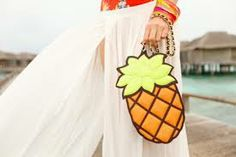 bolsa abacaxi- tecido
