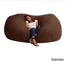Bean Bag Chairs For Adults Dorm Memory Foam Microfiber 7foot XXL Durable Lounger #Beanbag