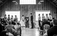 Intimate indoor wedding ceremony | Stunning vintage wedding photography by www.newvintagemedia.ca