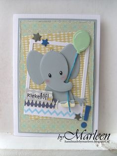 marianne design col1384 - Google Search Marianne Design Cards, Welcome Card, Congratulations Baby, Shower Bebe, Kids Birthday Cards, New Baby Cards, Baby Invitations, Cricut Cards, Baby Shower Cards