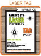 Laser Tag Invitation Template – green/orange
