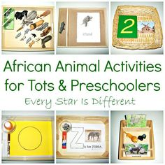 Every Star Is Different: Animals of Africa Activities for Tots & Preschoolers w/ Free Printables