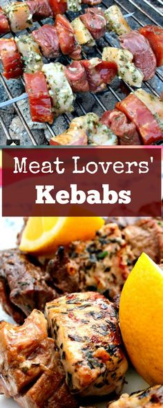 Meat Lovers' Kebabs! A trio of Beef, Pork and Chicken, with lovely marinades, all ready for the grill. This is perfect for any meat lover!   Lovefoodies.com