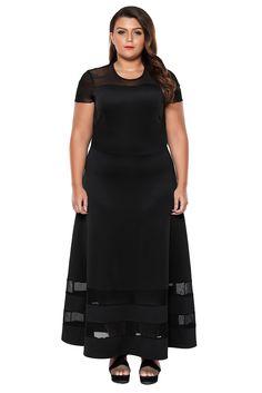 429941d998  10.12 Black Organza Trim Plus Size Cocktail Dresses Plus Size Cocktail  Dresses