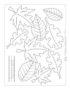 Fall Preschool, Preschool Learning, Kindergarten Activities, Teaching Art, Tracing Worksheets, Preschool Worksheets, Drawing Lessons For Kids, Art Lessons, Fall Art Projects