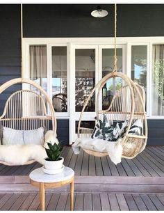 hanging egg chairs #EggChair