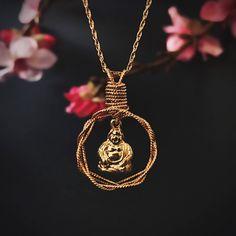 Inner Buddha Necklace- Eco Friendly 14k Gold Filled Pendant Gold Plated Buddha jewelry- Buddha Jewelry Gold Buddha Necklace Buddha Necklace