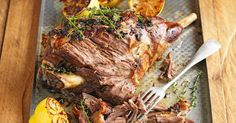 Slow-roasted lamb with skordalia WINNER! This signature Mediterranean lamb dish is a 'shear' delight to the senses! Irish Recipes, Lamb Recipes, Greek Recipes, Slow Cooker Recipes, Meat Recipes, Cooking Recipes, Recipies, Savoury Recipes, Savoury Dishes